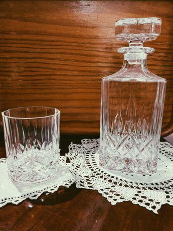 Cristal d'arques Garrafa + 6 copos de Whisky