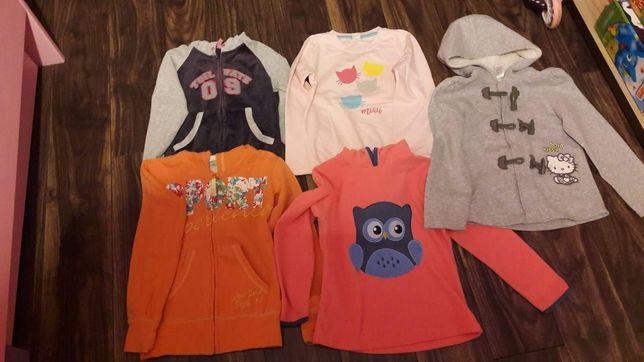 Bluza. Bluzy Zestaw 5 bluz dla dziewczynki  128/134