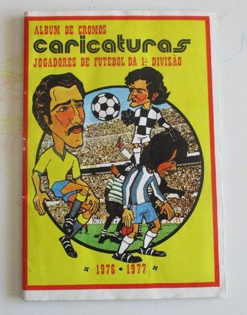 Caderneta completa de cromos de Caricaturas 76-77