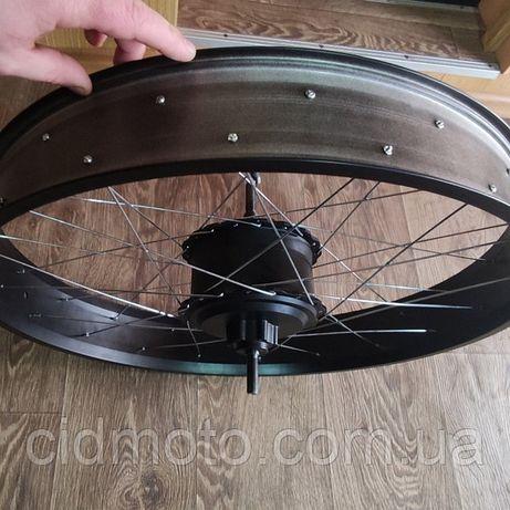 Мотор-колесо редукторное заднее 48V 500W(1000w) для фэтбайка 26/4 fatb