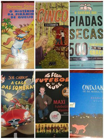 Livros - Geronimo Stilton, Os Cinco, Caderno Piadas Secas, Ondjaki...