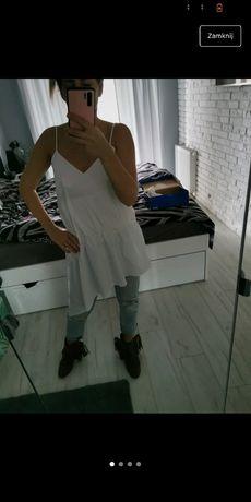 Bluzka a dla niższych sukienka Zara