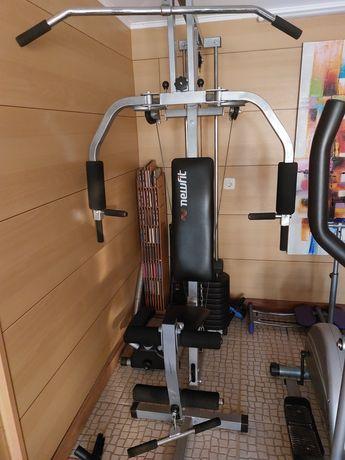 Musculação + remo + passadeira + bicicleta elíptica + máquina muscular