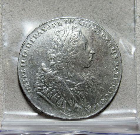 Рубль 1729 год (Лисий нос)