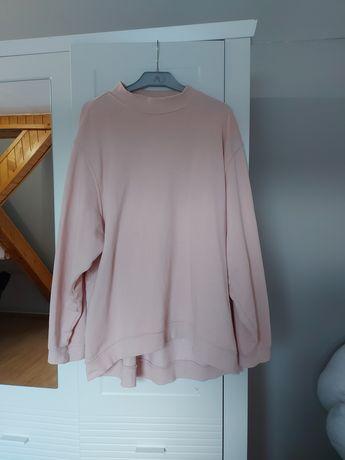 Pudrowo różowa bluza over size