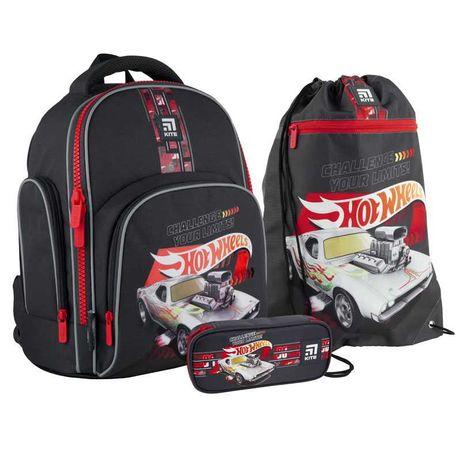 Школьный набор рюкзак + пенал + сумка Kite Hot Wheels HW21-706S