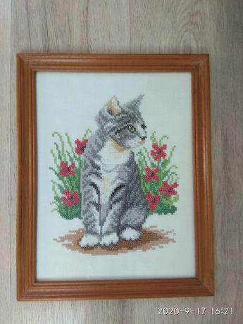 Kotek - haft krzyżykowy