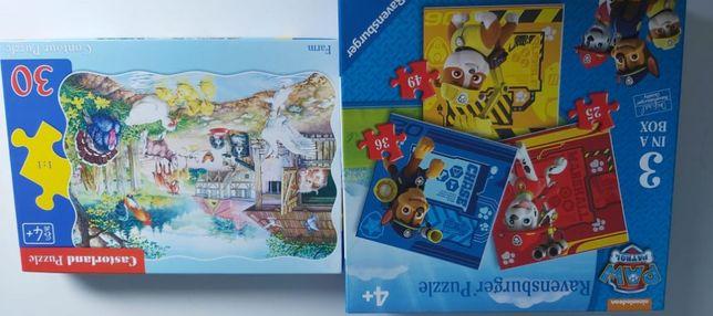 Puzzle gry gra dla dzieci zestaw 3+ pis patrol świnka peepa itp