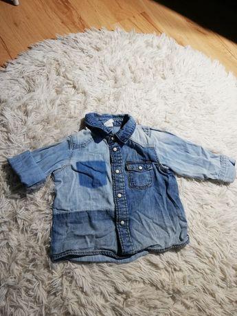 Koszula jeans jeansowa h&m 68, 74