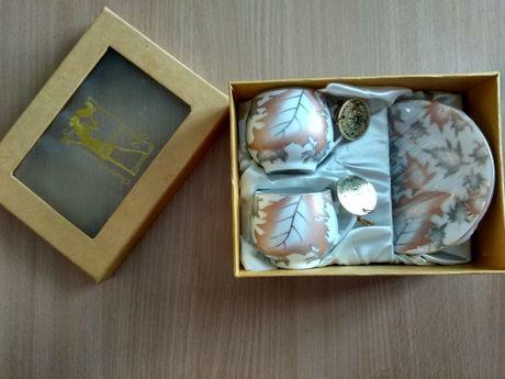 Вишуканий подарунковий набір чашки блюдця подарочный чайный набор
