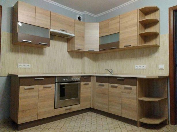 Кухня Алина Сокме (дуб сонома/мокко). 1 пог/м. В наличии на складе!