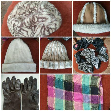 Шапка шарф платок перчатки