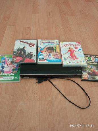 DVD Toshiba + conjunto de DVDs infantis