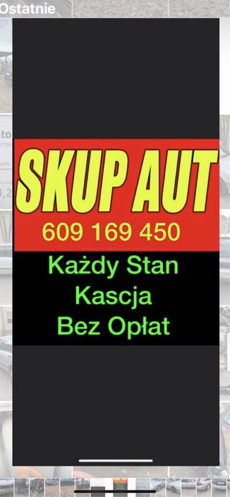 Zlomowanie Kasacja Skup Pojazdow Aut Kazdy Stan Kluczbork - image 1