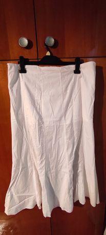 biała bawełniana spódnica, r. XXXL