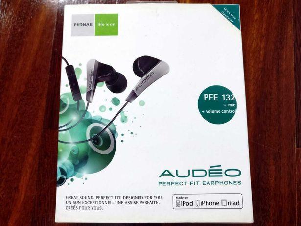 Fone in-ear audiófilo raro Phonak Audèo PFE 132 novo, selado