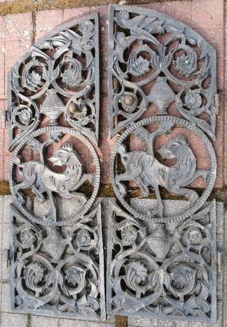 Przedwojenne drzwiczki drzwi od kominka STAN BDB