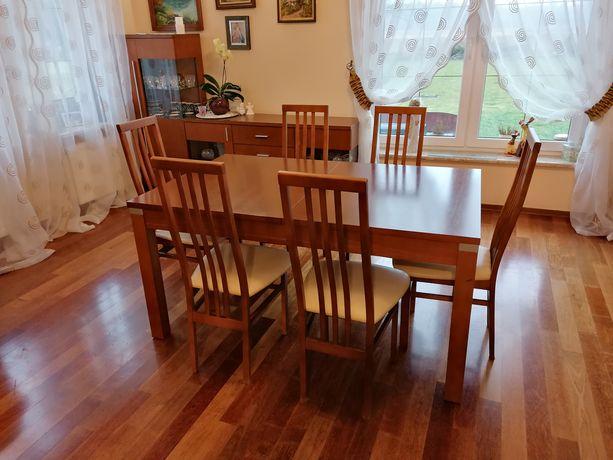 Stół (Meble Bydgoskie) z krzesłami