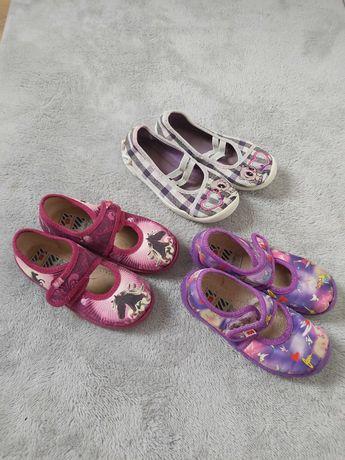 kapcie obuwie domowe do przedszkola 2 pary +gratis ELEPHANTEN r. 26