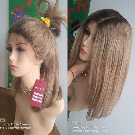 Натуральный парик имитация кожи славянские детские волосы светло русые