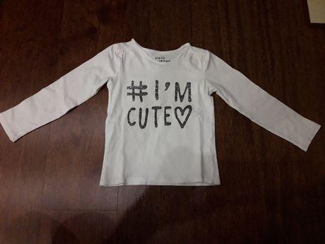 Koszulka dziewczęca biała Reserved r.110.