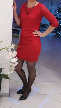 Sukienka koronkowa stan idealny M/L.