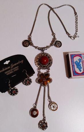 Колье серьги набор комплект бижутерии Украшения Бижутерия ожерелье