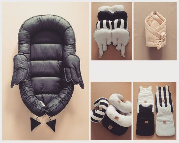 Kokon niemowlęcy rożek pościel la millou torba śpiworek do wózka