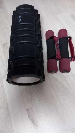Roller do masażu+ciężarki
