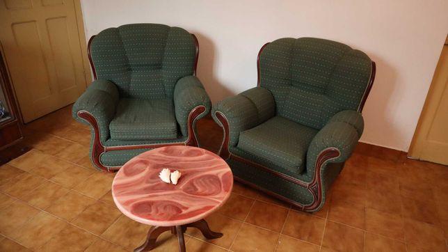Set 2 sofas vintage verde