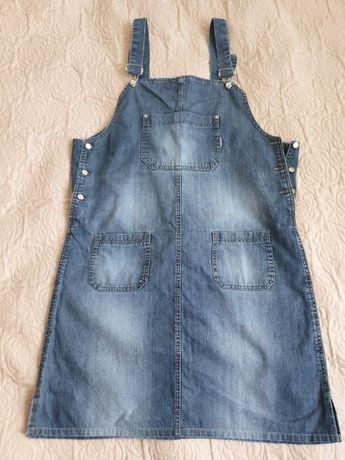 Sukienka ciążowa dżinsowa na szelkach ogrodniczka Windstar L