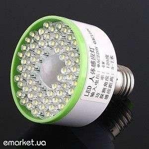 Светодиодная лампы Е27/3.6W/3W с датчиком движения