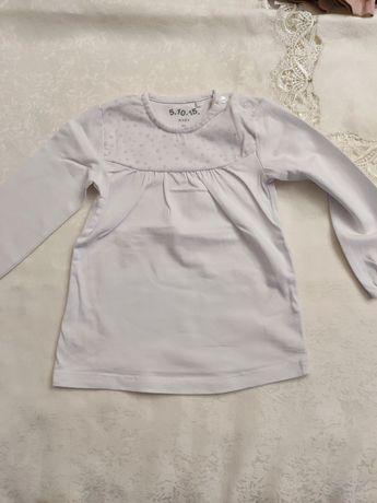 Bluzeczki białe 80/86