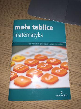 Książka małe tablice matematyka