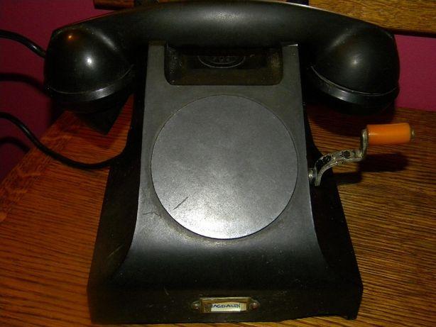 Stary Telefon na korbkę Antyk Bakielitowy