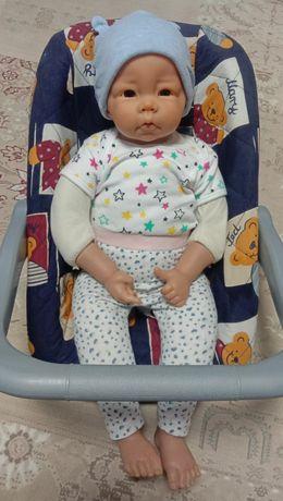 Кукла реборн Werkhaus Elly Knoops с автокреслом
