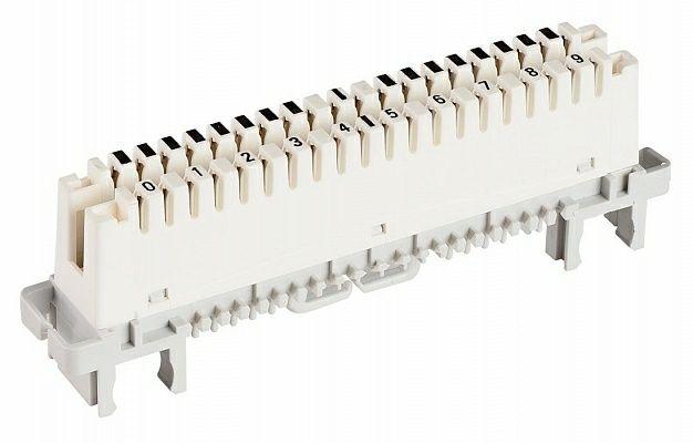 Плинт LSA-PROFIL 2/10 с размыкаемыми контактами, (6089 1 121-06)