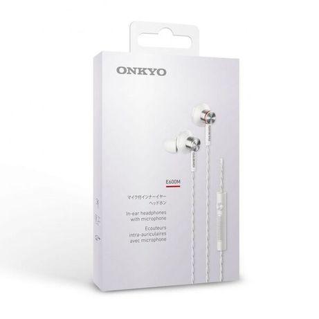 Rewelacyjne Onkyo Hi-Res E600MW/00 z mikrofonem * Fabrycznie NOWE