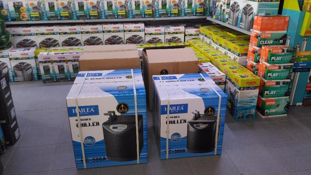 Refrigerador novo hailea aquario de agua doce ou salgada HC - 500 A