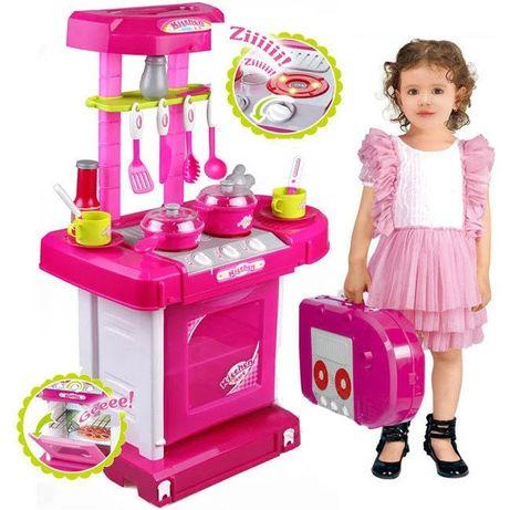Детская игровая кухня в чемодане свет звук 008 58