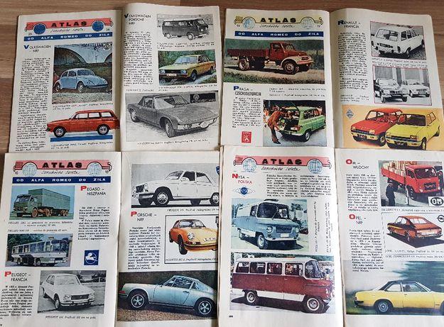 Płomyczek 1971, 1974 Atlas samochodów PRL FIAT Garbus Fiat Syrena