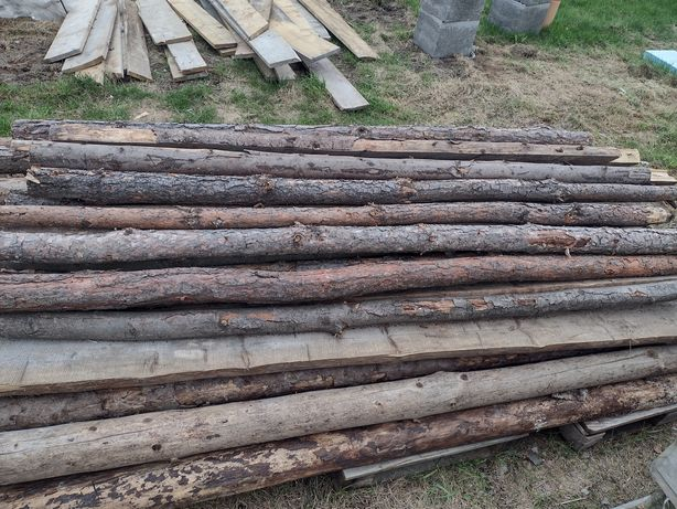 Stemple budowlane około 2.3m 60sztuk