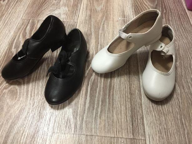 Степовки детские новые . Черные, белые. Обувь для степа, чечетки.