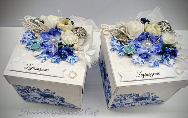 Exploding box kartka zaproszenie dla rodziców na ślub