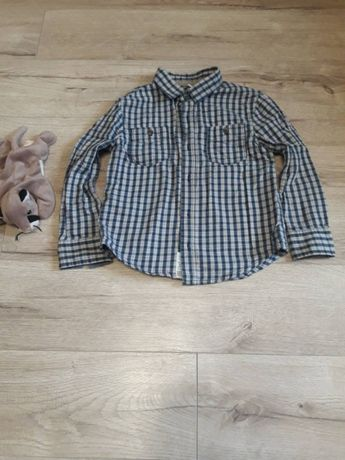 Рубашка на мальчика 6-7 лет стильная в клетку сорочка на хлопчика 6-7