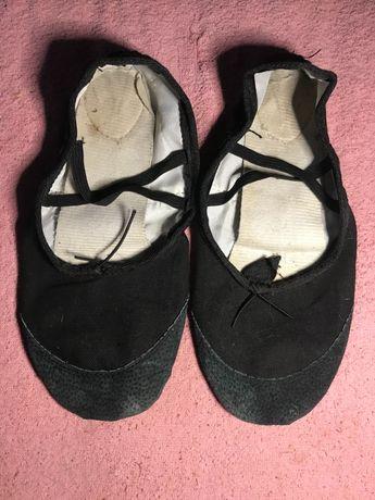 Танцевальные балетки чёрные