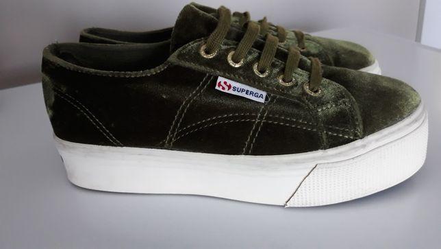 SUPERGA  *** oryginalne trampki sneakers zieleń roz 37