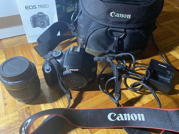Canon EOS 1100D + 18-55mm + mala de transporte (usada)