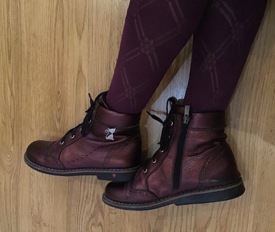 Ботинки деми , натуральная кожа , Турция