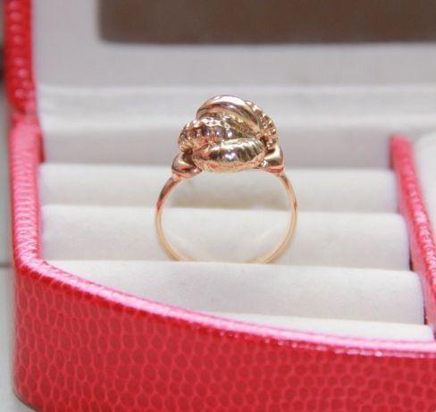 Złoto 585 złoty pierścionek kwiatek kwiat kopuła Apart kwiatki ażurowy